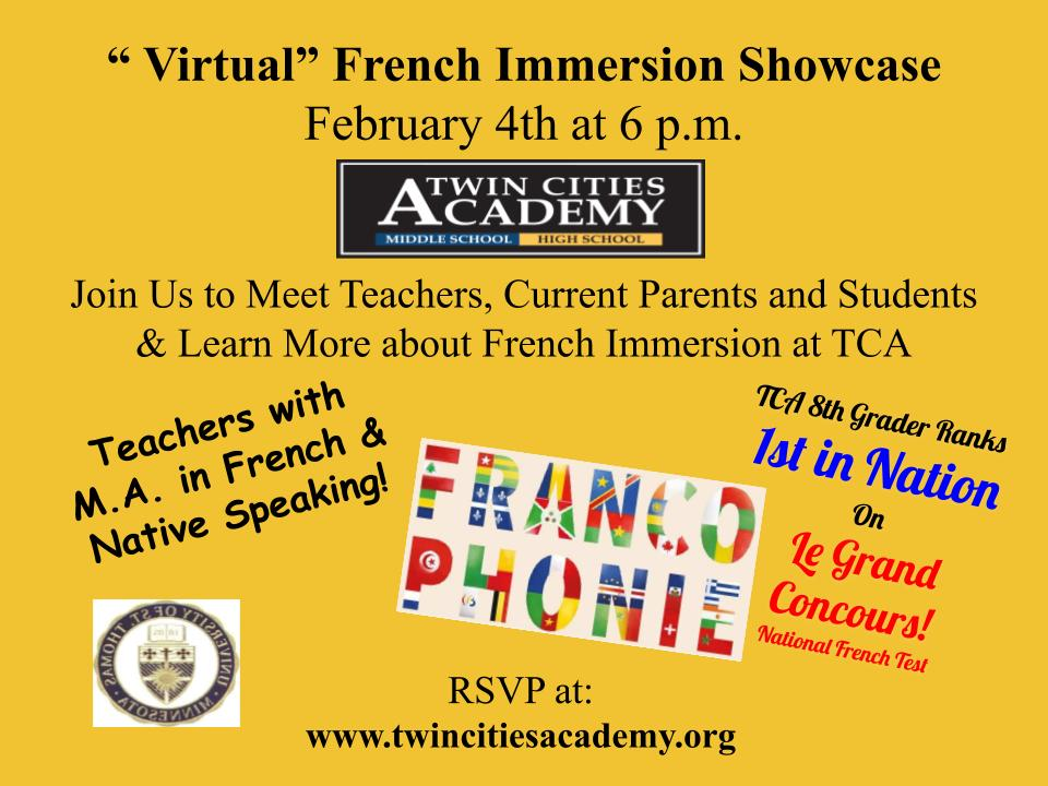Virtual French Immersion Showcase