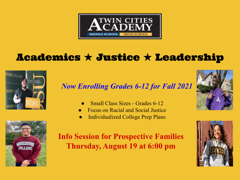 RSVP here for August 19th Info Session